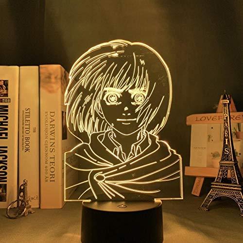 Lámpara de ilusión LED 3D, luz nocturna, mesa de noche óptica, luces de noche iluminando la lámpara de los niños que cambia el color del botón táctil del botón USB Cable regalos para niños