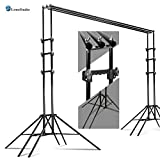LimoStudio Sixpod 10 x 8.5 ft Photography Reinforced Backdrop Support System with Carry Case, 6 Legs Support Stands, Max 10ft. Cross Bar, Stable Photo Studio Background Sixpod Support System, AGG2670