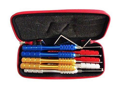 TPM Go 10 piezas de llave de hoyuelos Kaba abridor de cerrajero, herramientas coloridas de bloqueo Kaba