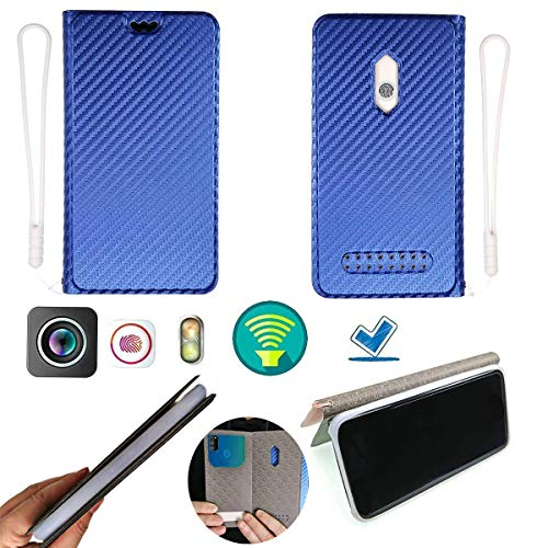 Oujietong Ojtong Hülle Für Allview P8 Energy Pro Silikon Schutzring + Flip Cover Stand Shell Blau