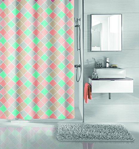 Kleine Wolke Textilgesellschaft Duschvorhang, Kunstfaser, Mehrfarbig, 200 x 180 cm