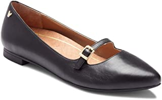 Women's Gem Delilah Ballet Flat - Ladies Pointed Mary Jane Flat with Concealed Orthotic Arch Support