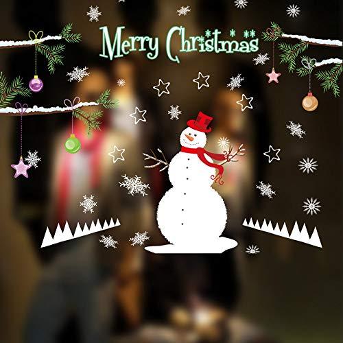 Kerstmis muursticker creatieve cartoon vrolijke kerstmis raam sticker knutselen sneeuwpop sokken vinyl muursticker creatief Vrolijk Kerstmis venster