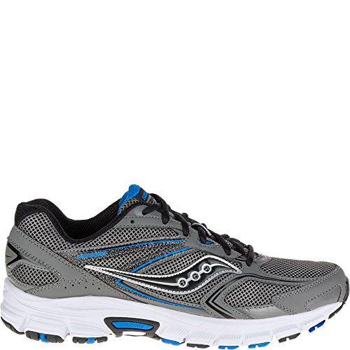 Saucony Men's Cohesion 9 Running Shoe, Grey/Black/Royal, 10 M US