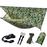Dyna-Living - Mosquitera para hamaca colgante de jardín, exterior con tarp, Hammac camping, Hammock doble, 200 kg, capacidad de carga (260 x 140 cm), camuflaje