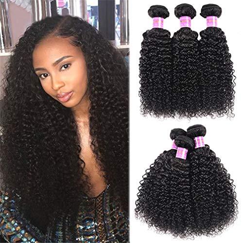 TATANE Brésilien Yaki Cheveux Bouclés 3 Bundles Cheveux Bouclés Weave Trame Extension 3 Bundles Lisse Et Épais Cheveux Vierge Non Transformés,16inch