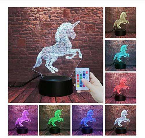 Das laufende Pferd des Einhorns, das Farbe RGB-Nachtlicht Halloween der Tätigkeit 7 springt, scherzt Kinderspielwarenfeiertagsfeiertags-Weihnachtsgeschenk