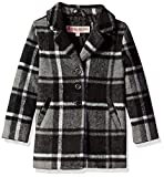 Urban Republic Little Girls 425gsm Wool Jacket, Black Plaid, 5/6