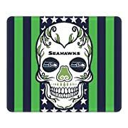UNIQUE DESIGN---This mouse pad is designed by our designer for fans of the American football team. The high-resolution image quality will not fade or scratch, which will bring you a wonderful life in the office ULTRA-SMOOTH SURFACE---The mouse pad is...