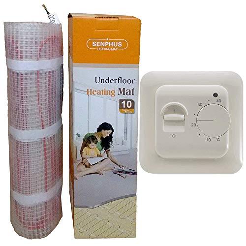 Komplett-Set Elektrische Fußbodenheizung mit TWIN-Technologie - 200 Watt, Thermostat:RTC70.26, Größe:1 m²