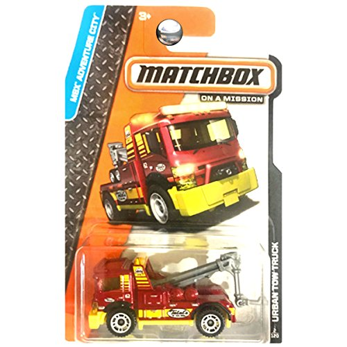 Matchbox MBX Adventure City Urban Tow Truck Red and Yellow #2 of 120
