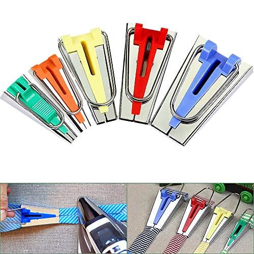 Juego de 5 tamaños para hacer cinta de bies, 6 mm, 9 mm, 12 mm, 18 mm, 25 mm, kit de herramientas de acolchado