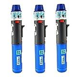 Turbo Blue Torch Stick Multi Purpose Refillable Butane Lighter (3-Pack)