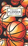 2021-2022 Pocket Planner: Amazing Basketballs 24 Month Calendar Organizer Agenda with Helpful Features