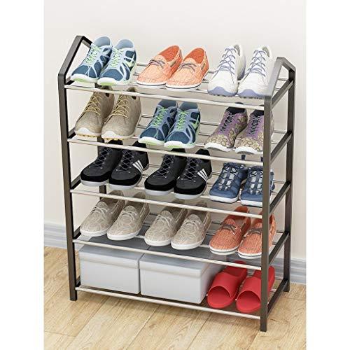 Yyqx Almacenamiento de Zapatos Rack de Zapatos Simple de múltiples Capas Rack de Almacenamiento de Montaje en casa de múltiples Funciones Rack de Zapatos Zapatero (Size : L)