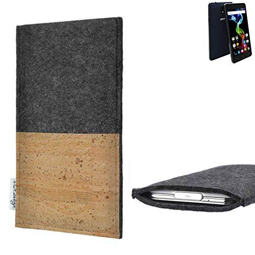 flat.design vegane Handy Hülle Evora für Archos 55b Platinum Kartenfach Kork Schutz Tasche handgemacht fair vegan