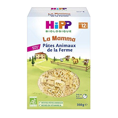 Hipp Biologique Pâtes Animaux de la Ferme Dès 12 Mois 5 Boîtes de 350 g