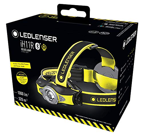 Ledlenser – IH11R High Power LED Professional Headlamp, Rechargeable, Bluetooth Smartphone Connectivity, 1,000 Lumens