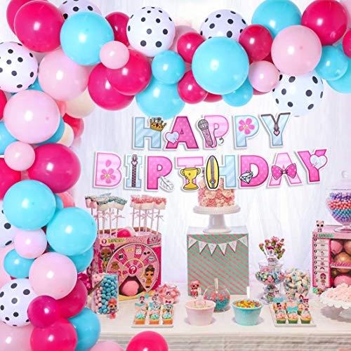 Kit de Arco de Guirnalda de Globos de Fiesta Sorpresa Decoraciones para Fiesta de cumpleaños Baby Shower 94Pack Surprise Doll Theme Birthday Party Supplies