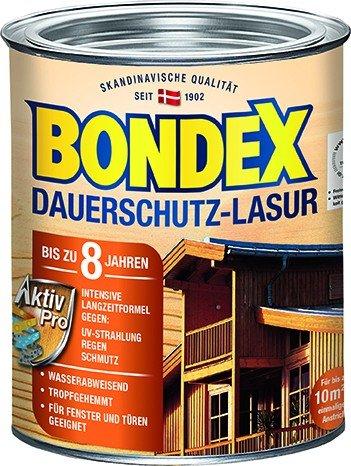 Bondex dauerhaften Schutz Holzlasur 0,75L grau