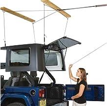 HARKEN Jeep Hardtop Overhead Garage Storage Hoist with Bonus 6 T Knobs for Quick Hardtop..