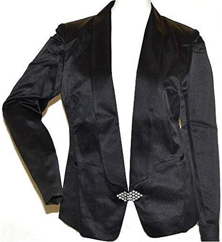 K. Jordan Women's Tuxedo Jacket in Black - 10