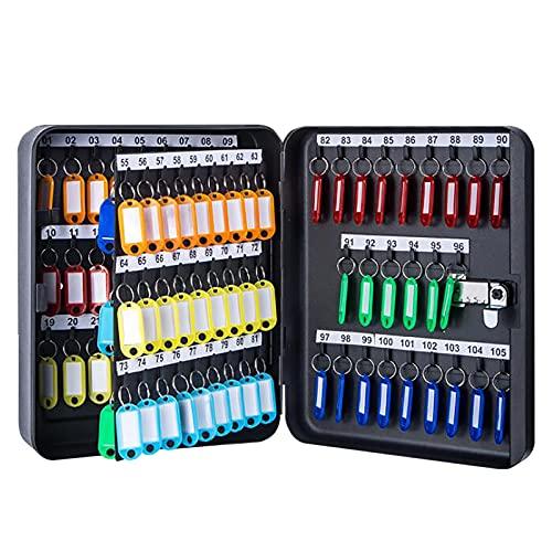 PWE-Caja Fuerte De Seguridad De 105 Llaves con Cerradura De Combinación, Planchar, Negro,Negro