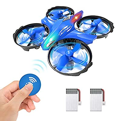 GEEKERA Mini Drone for Kids, UFO Drone Gesture Control Remote Control Helicopter Quadcopter Flying Toy Gift for Boys Girls Children Teenagers Birthday Xmas Games LED Light, New