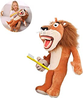 Lion Dental Puppet, YOUYA Oral Health Presentation Puppet Lion Dental Educational Plush Large Size Doll with Teeth for Babies Kids Chidren Boys Girls
