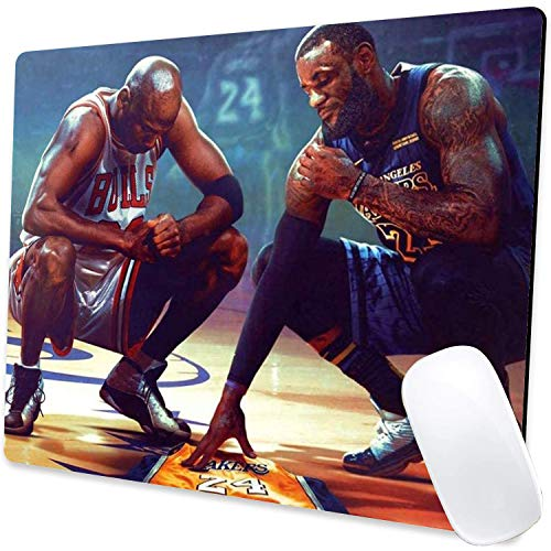 Gaming Mouse Pad,Kobe Jordan James Poster Mouse Pad Non-Slip Rubber Base Mouse Pads for Computers Laptop Office,9.5'x7.9'x0.12' Inch(240mm x 200mm x 3mm)