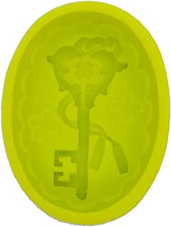 《モモミュゼット》シリコンモールド アンティークキー レジン 石膏 アロマストーン 手作り 石鹸 キャンドル MD-110087