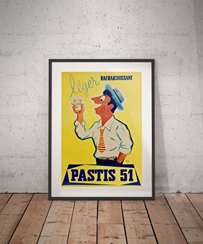 Rac76yd pastis poster vintage vintage poster drank dranken aperitieven alcholische reclame muur decor