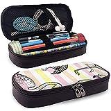 Flamingo Sketch Doodle Textur Leder Bleistift Etui Tasche Geldbörse Station Stationäre Tasche Kosmetische Make-up-Tasche