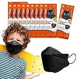 Kf94 kids comfortable mask made korea 4-Layer Filters mask. Individual Pack (Black_10set)