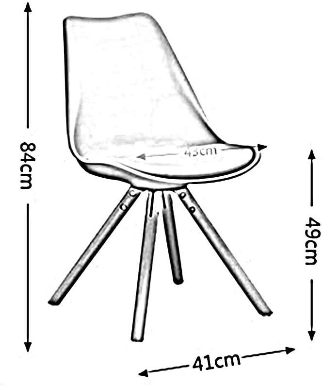 Chaises de Salle à Manger,Une pièce de Moulage Chaise Longue Ergonomie Chaise d'ordinateur Moderne Simplicité Siège rembourré Charge Capacité nominale: 330lbs (Color : Blue) Blue