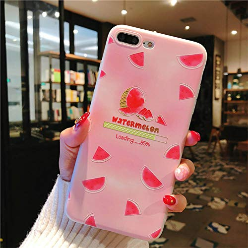 YSDSBM para Fruit Pattern Case iPhone 6 6s 7 8 Funda Soft Silicone Lemon Protect Soft Full Cover iPhone 7 8 Plus X XR XS Fundas para teléfonos