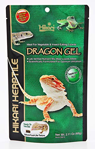 HIKARI Herptile Dragon Gel Reptile Food Complete Diet for Insect & Vegetable Eating Lizards, Live Feed Replacement for Bearded Dragons, Ocellated Lizards & Water Dragons