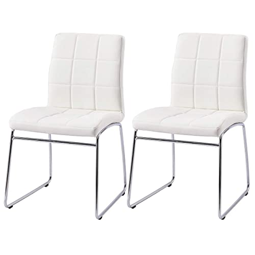 Fabulous White Dining Chairs Amazon Co Uk Caraccident5 Cool Chair Designs And Ideas Caraccident5Info