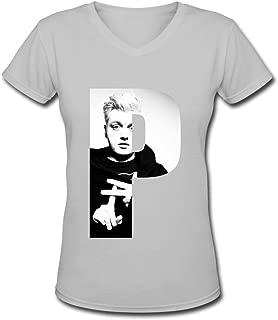 TBTJ Flux Pavilion P V-Neck T Shirt For Women