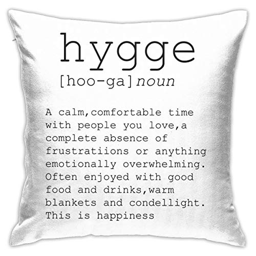 Not Applicable Typography Print Dictionary Print Hygge Cushion Covers Throw Pillow Decorative For Sofa Bedroom Pillow Case 18 X 18 Inch