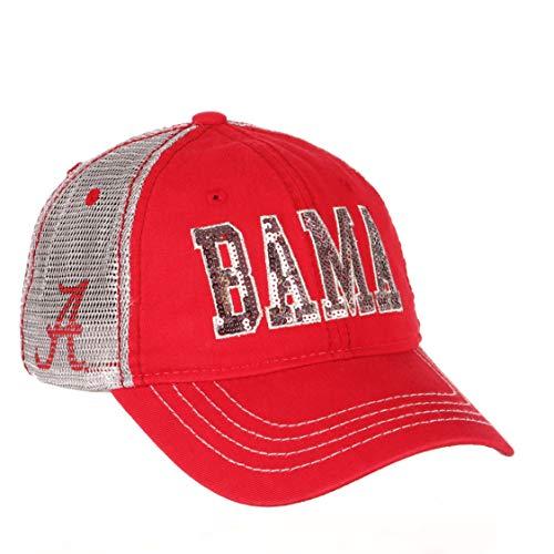 NCAA Zephyr Alabama Crimson Tide Womens Savvy Cotton Mesh Hat, Adjustable, Team Colors