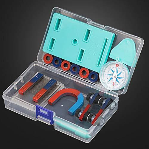 KingbeefLIU Kinder Wissenschaft Bar Ring Hufeisen Kompass Magnet Car Kit Experiment Werkzeuge EIN Spaß Pädagogisches Spielzeug