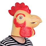 Anladia Hahn-Maske Latex Gummi Kopfmaske Vollmaske Tiermaske Kostuem Fuer Karneval Fasching Kleid