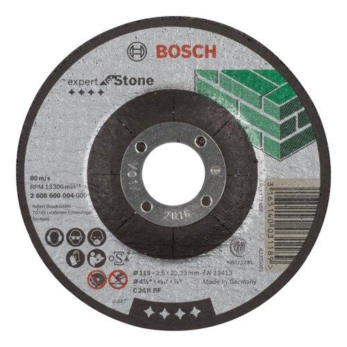 Bosch 2608600004 Disque à Tronçonner à moyeu déporté expert for stone C 24 R BF 115 mm 2,5 mm