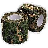 Ndier Bandage Cohésif Camouflage, Bande Camouflage Rouleaux Adhésif Bande Étanche Wrap...