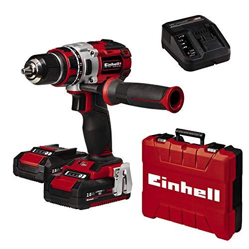 Einhell 4513851 Trapano Avvitatore Te-CD 18 Li Bl, Power X-Change, Ioni di Litio, 2X Batterie 2.0 Ah, 2 Caricabatterie, 60 NM, Mandrino 13 mm, 18 V, Incluso 2,0