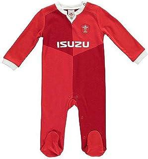 ラグビー ウェールズ代表 Wales RU オフィシャル商品 赤ちゃん・ベビー用 スリープスーツ 長袖 ロンパース