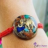 Orgonite Bracelet in adjustable macrame with orgonite, protection EMF, Elephant symbol, representing the abundance and prosperity- daily use-yoga meditation. handmade, arte orgones