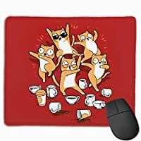 マウスパッド かわいい柴犬 しばけん Mousepad ミニ 小さい おしゃれ 耐久性が良 滑り止めゴム底 表面 防水 コンピューターオフィス ゲーミング 25 x 30cm
