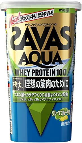 スマートマットライト 明治 ザバス(SAVAS) アクア ホエイプロテイン100 グレープフルーツ風味【14食分】 294g